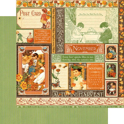 Graphic 45 - Childrens Hour Collection - 12 x 12 Double Sided Paper - November Collective