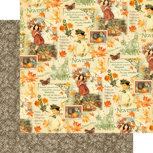 Graphic 45 - Childrens Hour Collection - 12 x 12 Double Sided Paper - November Montage