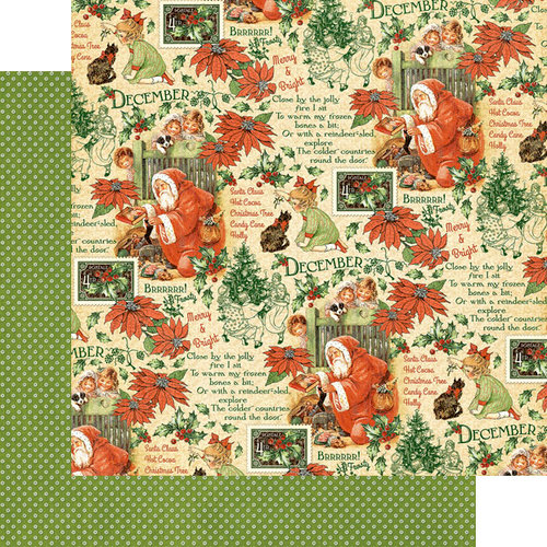 Graphic 45 - Childrens Hour Collection - 12 x 12 Double Sided Paper - December Montage