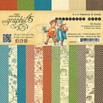 Graphic 45 - Childrens Hour Collection - 6 x 6 Patterns and Solids Paper Pad