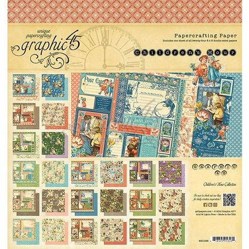 Graphic 45 - Childrens Hour Collection - 8 x 8 Paper Pad