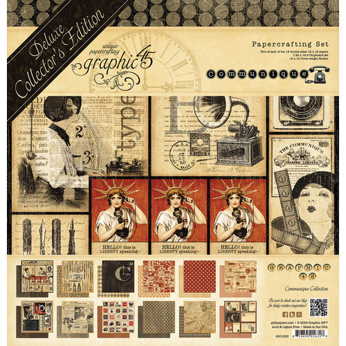 Graphic 45 - Communique Collection - Deluxe Collector's Edition - 12 x 12 Papercrafting