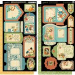 Graphic 45 - Childrens Hour Collection - Cardstock Tags and Pockets