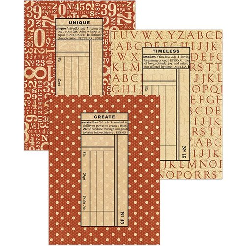 Graphic 45 - Staples Collection - Policy Envelopes - ATC - Red