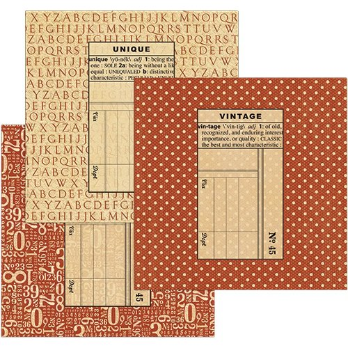 Graphic 45 - Staples Collection - Policy Envelopes - Square - Red