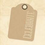 Graphic 45 - Staples Collection - Stencil-Cut Gift Tags - ATC - Celebrate - Kraft