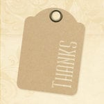 Graphic 45 - Staples Collection - Stencil-Cut Gift Tags - ATC - Thanks - Kraft