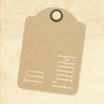 Graphic 45 - Staples Collection - Stencil-Cut Gift Tags - ATC - To and From - Kraft
