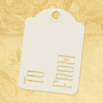 Graphic 45 - Staples Collection - Stencil-Cut Gift Tags - ATC - To and From - Ivory