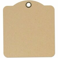 Graphic 45 - Staples Collection - Square Die Cut Tags - Kraft