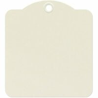Graphic 45 - Staples Collection - Square Die Cut Tags - Ivory