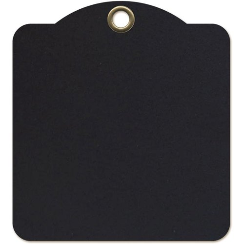 Graphic 45 - Staples Collection - Square Die Cut Tags - Black