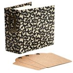 Graphic 45 - Staples Collection - Square Tag and Pocket Album - Black Butterfly