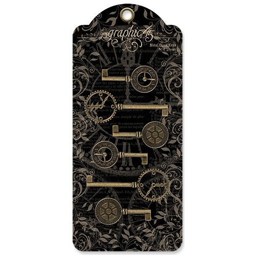 Graphic 45 - Staples Collection - Metal Clock Keys