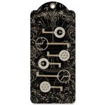 Graphic 45 - Staples Collection - Shabby Chic Metal Clock Keys