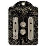 Graphic 45 - Staples Collection - Shabby Chic Metal Door Plates and Knobs