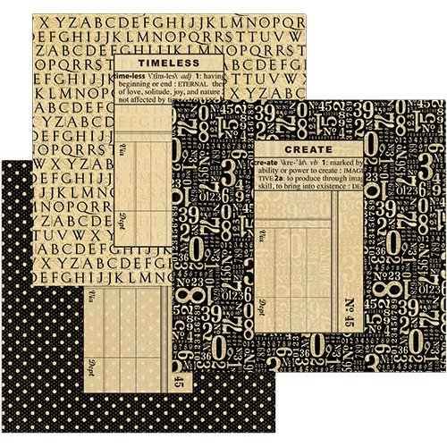 Graphic 45 - Staples Collection - Policy Envelopes - Square - Black