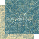 Graphic 45 - Cityscapes Collection - 12 x 12 Double Sided Paper - Map the Past