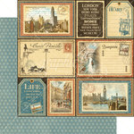 Graphic 45 - Cityscapes Collection - 12 x 12 Double Sided Paper - Grand Tour