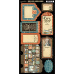 Graphic 45 - Cityscapes Collection - Cardstock Tags and Pockets