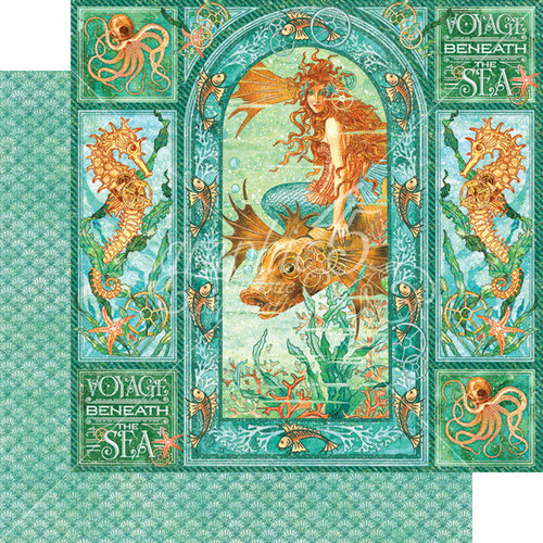 Graphic 45 - Voyage Beneath the Sea Collection - 12 x 12 Double Sided Paper - Voyage Beneath the Sea