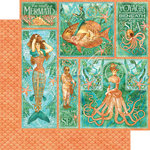 Graphic 45 - Voyage Beneath the Sea Collection - 12 x 12 Double Sided Paper - Mermaid Melody