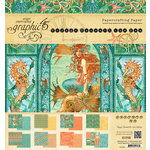 Graphic 45 - Voyage Beneath the Sea Collection - 8 x 8 Paper Pad