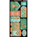 Graphic 45 - Voyage Beneath the Sea Collection - Cardstock Tags and Pockets
