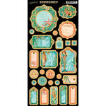 Graphic 45 - Voyage Beneath the Sea Collection - Die Cut Chipboard Tags - Two