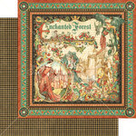 Graphic 45 - Enchanted Forest Collection - 12 x 12 Double Sided Paper - Enchanted Forest
