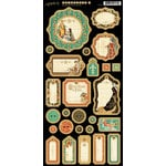 Graphic 45 - Enchanted Forest Collection - Die Cut Chipboard Tags - Two