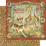 Graphic 45 - Safari Adventure Collection - 12 x 12 Double Sided Paper - Safari Adventure