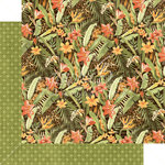Graphic 45 - Safari Adventure Collection - 12 x 12 Double Sided Paper - Lush Landscape