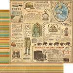 Graphic 45 - Safari Adventure Collection - 12 x 12 Double Sided Paper - Serengeti Outfitters