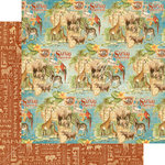 Graphic 45 - Safari Adventure Collection - 12 x 12 Double Sided Paper - Creatures Great and Small
