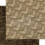 Graphic 45 - Safari Adventure Collection - 12 x 12 Double Sided Paper - Natural Habitat