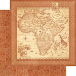 Graphic 45 - Safari Adventure Collection - 12 x 12 Double Sided Paper - Journey of a Lifetime