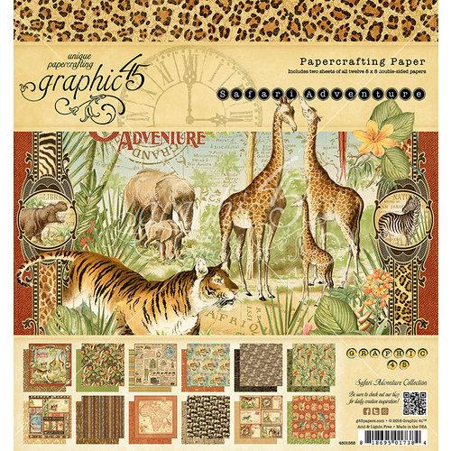 Graphic 45 - Safari Adventure Collection - 8 x 8 Paper Pad
