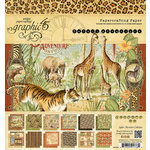 Graphic 45 - Safari Adventure Collection - 8 x 8 Paper Pad