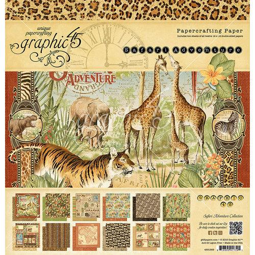 Graphic 45 - Safari Adventure Collection - 12 x 12 Paper Pad
