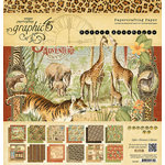 Graphic 45 - Safari Adventure Collection - 12 x 12 Paper Pad