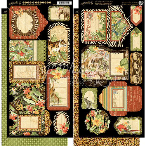 Graphic 45 - Safari Adventure Collection - Cardstock Tags and Pockets