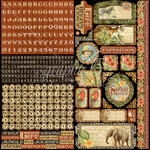 Graphic 45 - Safari Adventure Collection - 12 x 12 Cardstock Stickers