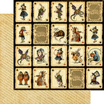 Graphic 45 - Halloween in Wonderland Collection - 12 x 12 Double Sided Paper - Jabberwocky