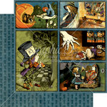 Graphic 45 - Halloween in Wonderland Collection - 12 x 12 Double Sided Paper - Through the Looking Glass