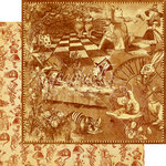 Graphic 45 - Halloween in Wonderland Collection - 12 x 12 Double Sided Paper - Curiouser and Curiouser