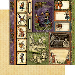 Graphic 45 - Halloween in Wonderland Collection - 12 x 12 Double Sided Paper - Tweedledee and Tweedledum