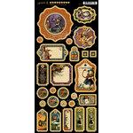 Graphic 45 - Halloween in Wonderland Collection - Die Cut Chipboard Tags