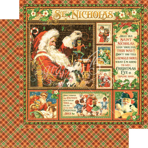 Graphic 45 - St Nicholas Collection - Christmas - 12 x 12 Double Sided Paper - St Nicholas