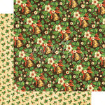 Graphic 45 - St Nicholas Collection - Christmas - 12 x 12 Double Sided Paper - Bells and Bows
